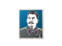 Badge of ussr with stalin Stock Photography