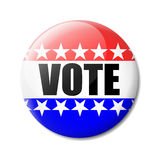Badge Vote. Isolated bagde vote about the American election Stock Photo