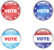 Badge vote button pins Royalty Free Stock Photo
