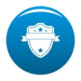 Badge warrior icon blue vector. Badge warrior icon vector blue circle isolated on white background stock illustration