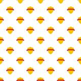 Badge warrior pattern seamless. In flat style for any design stock illustration