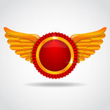 Badge with wings Royalty Free Stock Photos