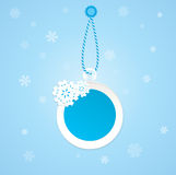 Badge on a winter theme. Royalty Free Stock Images