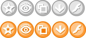 Badges. Royalty Free Stock Image
