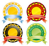 Badges. Illustration of different badges with blank space inside Royalty Free Stock Photography