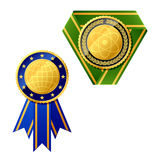 Badges. Vector illustration. Detailed portrayal Stock Image