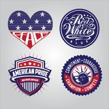 American badge collections stock illustration
