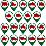 Badges with armored vehicles Royalty Free Stock Photo