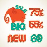 Badges big discounts Royalty Free Stock Photo