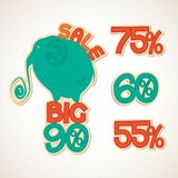 Badges big discounts Stock Images
