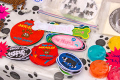 Badges at Border Collie Rescue Stock Images