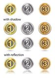 Badges - bronze, silver, gold Royalty Free Stock Image