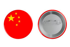 Badges with China flag Royalty Free Stock Photos