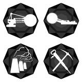 Badges coal industry-1 Royalty Free Stock Photography