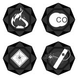 Badges coal industry-3 Stock Photo