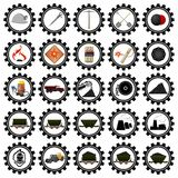 Badges coal industry-1 Royalty Free Stock Images