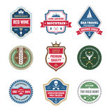 Badges Collection in Retro Style Stock Photos