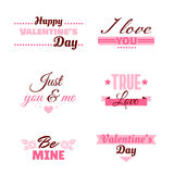 Badges Collection Valentines Day Stock Photography
