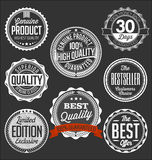 Badges Collection. White on a Black Background, Limited Edition Royalty Free Stock Photo