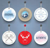 Badges with cords Royalty Free Stock Photo