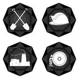Badges el carbón industry-2 Foto de archivo libre de regalías