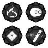 Badges el carbón industry-3 Foto de archivo