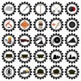 Badges el carbón industry-1 Imágenes de archivo libres de regalías
