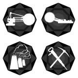 Badges el carbón industry-1 Fotografía de archivo libre de regalías