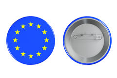 Badges with Euro flag Stock Photography
