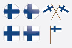 Badges with Finland flag Royalty Free Stock Photography