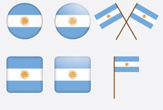 Badges with flag of Argentina. Set of vadges with flag of Argentina vector illustration Royalty Free Stock Photo
