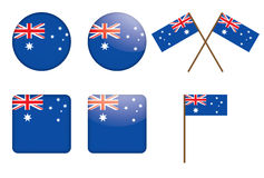 Badges with flag of Australia. Vector illustration Stock Photos