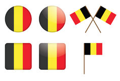 Badges with flag of Belgium Royalty Free Stock Image