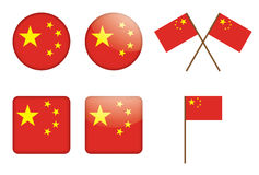 Badges with flag of China Royalty Free Stock Photos