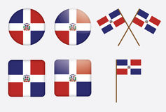 Badges with flag of Dominican Republic Stock Image