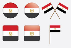 Badges with flag of Egypt. Set of badges with flag of Egypt vector illustration Royalty Free Stock Image