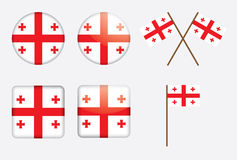 Badges with flag of Georgia Royalty Free Stock Photos