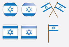 Badges with flag of Israel. Set of badges with flag of Israel vector illustration Stock Photography