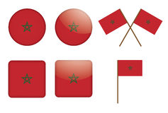 Badges with flag of Morocco Royalty Free Stock Image