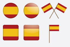 Badges with flag of Spain. Set of badges with flag of Spain vector illustration Royalty Free Stock Photo