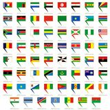 Badges with flags of Africa Stock Photos