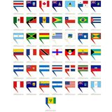 Badges with flags of America Stock Images