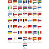 Badges with flags of Europe Royalty Free Stock Photography