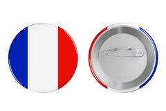 Badges with France flag Royalty Free Stock Images