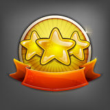 Badges of gold stars. Vector illustration Royalty Free Stock Photos