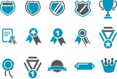 Badges Icon Set stock illustration