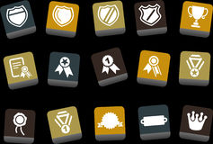 Badges Icon Set Stock Photos