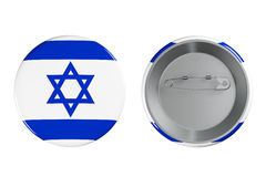 Badges with Israel flag Stock Images