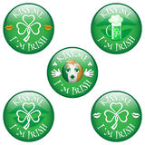 Badges Kiss me I'm Irish. Stock Image