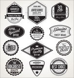 Badges and labels collection. Isolated on white background Stock Photos